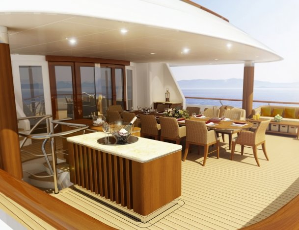 Motor Yacht Lady Britt Aft - rendering