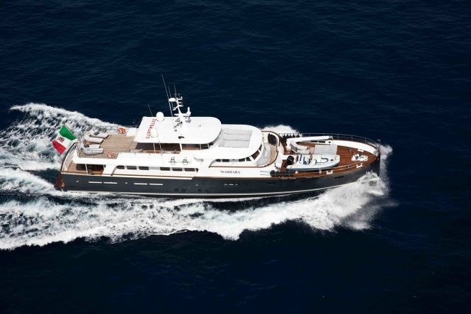 Motor yacht Marhaba available for charter at the Naples America's Cup World Series 2012