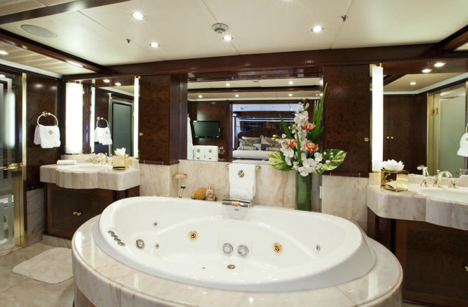 Noble house yacht master bathroom luxury yacht charter for Luxury master bathroom designs gallery