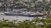 Port Louis Marina visited by numerous Superyachts