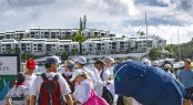 Preparing for the start of the International Rolex Regatta 2012 Photo by Rolex Ingrid Abery