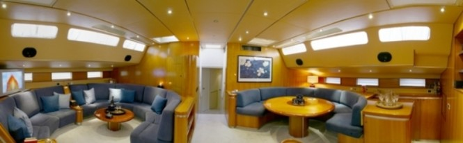 Yacht AMADEUS - Main salon and Dining Area