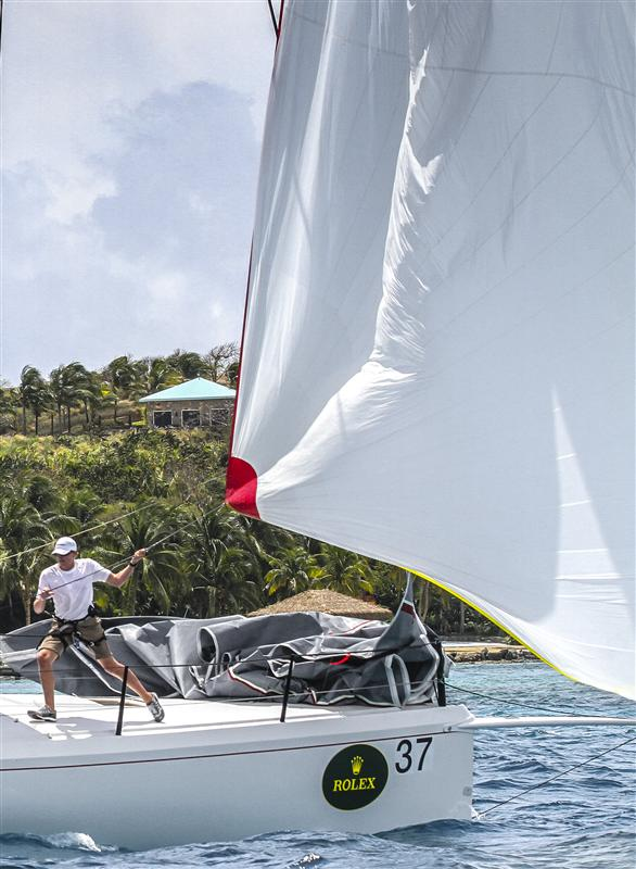Sailing yacht DECISION Photo by Rolex Ingrid Abery