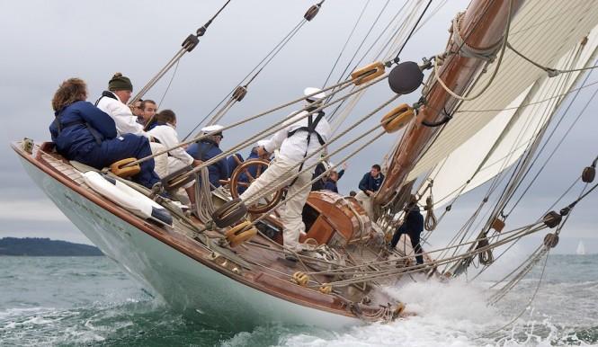Sailing yacht Mariquita racing in the 2010 Westward Cup - Photo courtesy of photographer Ian Roman