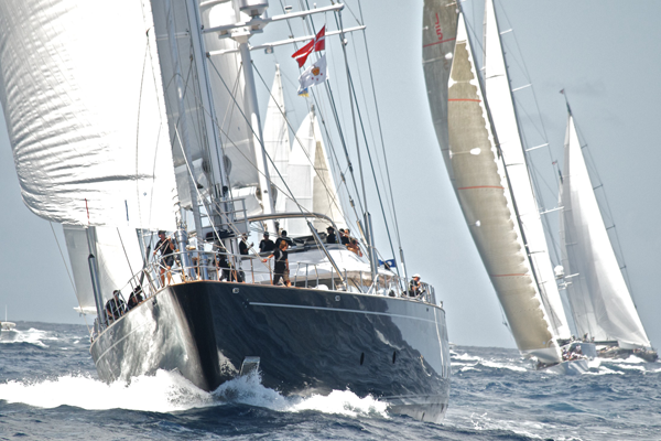 Sailing yacht Parsifal III at the St Barth's Bucket
