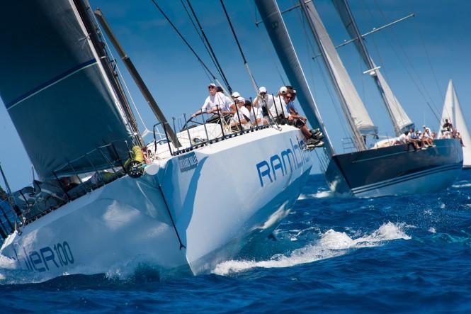 Sailing yacht Rambler 100 Credit Christophe Jouany Les Voiles de Saint Barth