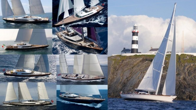 Beautiful superyachts designed by Ron Holland