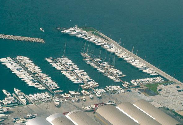 Sudcantieri Superyacht Marina - view from above