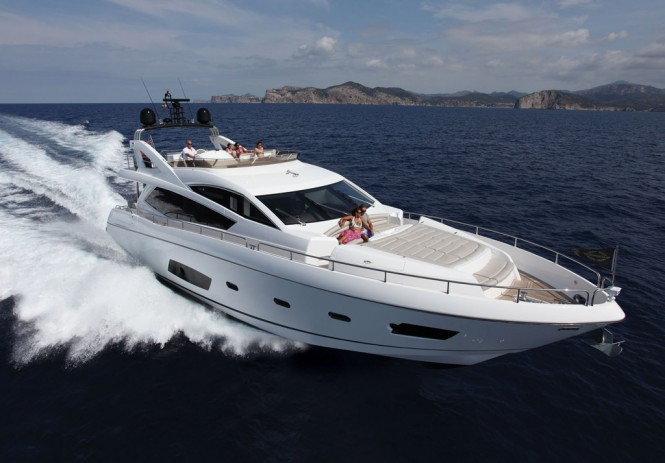 The recently launched Manhattan 73 motor yacht Michaela is the largest of ...