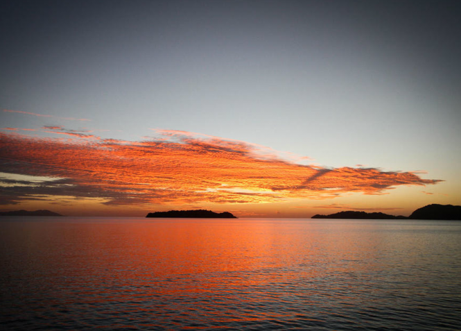 Sunset in Fiji - Photo by Ming Nomchong and Luke Henkel