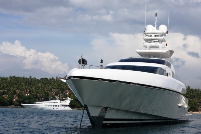 Superyachts moored in Phuket during Asia Superyacht Rendezvous photo credit Asia Superyacht Rendezvous