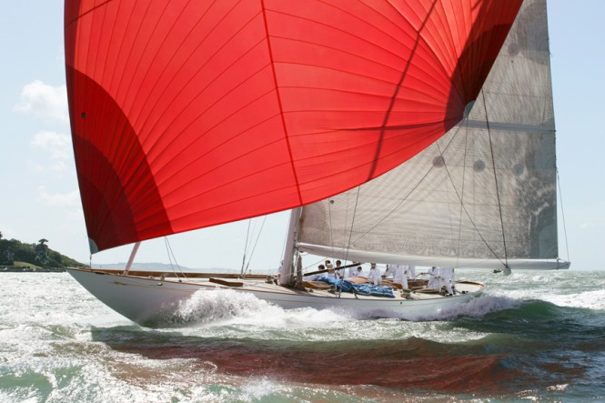 The J Class replica sailing yacht Savannah is competing on June 30th - Photo Courtesy of owner Hugh Morrison