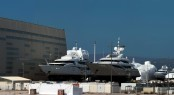 Luxury motor yachts at Monaco Marine Shipyard in La Ciotat