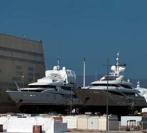 Monaco Marine Shipyard in La Ciotat at full capacity with 19 luxury yachts