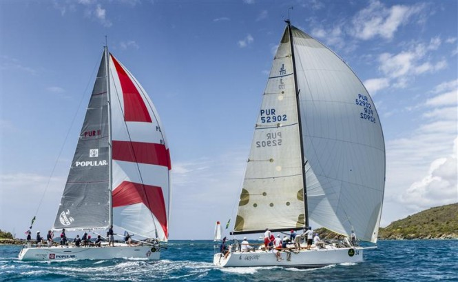 Yachts SMILE AND WAVE and LAZY DOG battled for second and third in CSA 2, respectively Photo by Rolex Ingrid Abery