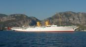 128m charter yacht Savarona