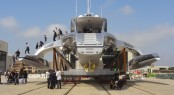 42.5m trimaran yacht Adastra ashore