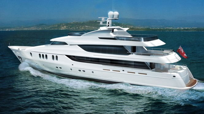 48 m motor yacht Rahil rendering by Reymond Langton Design