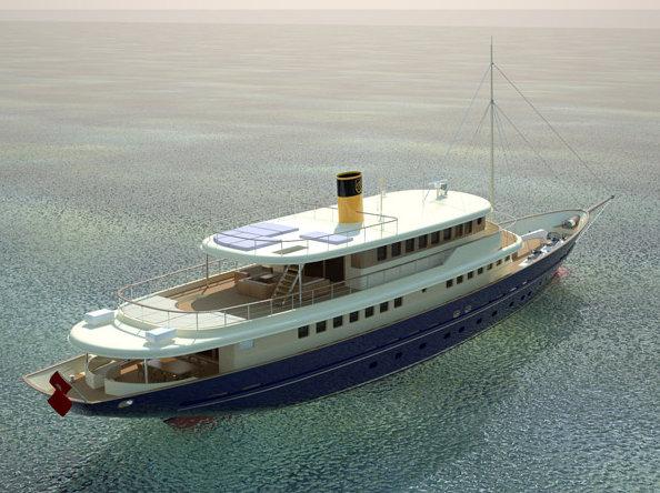 48.7m luxury yacht Bilgin 160 Sister - rear view