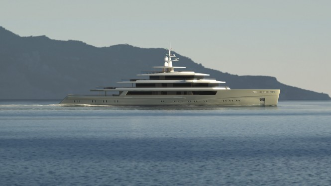 90m motor yacht PROJECT LIGHT by Nauta Yachts