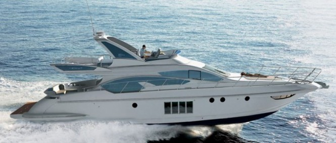 A motor yacht Azimut 64