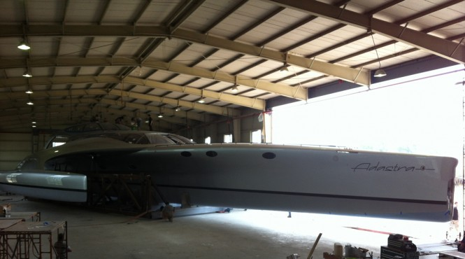 ADASTRA trimaran ready for sea trials at McConaghy Boats