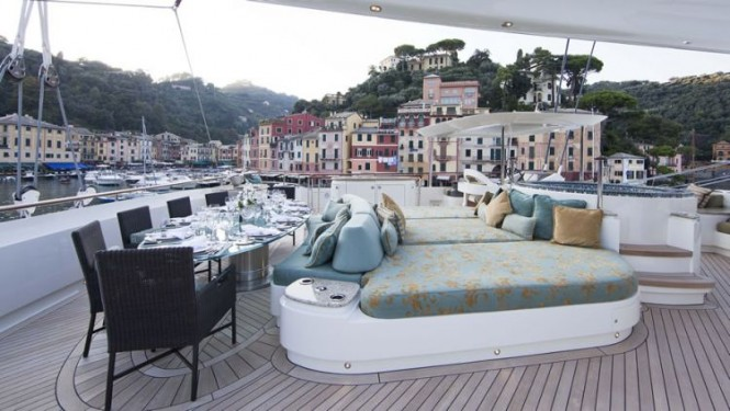 Aboard beautiful superyacht HEMISPHERE