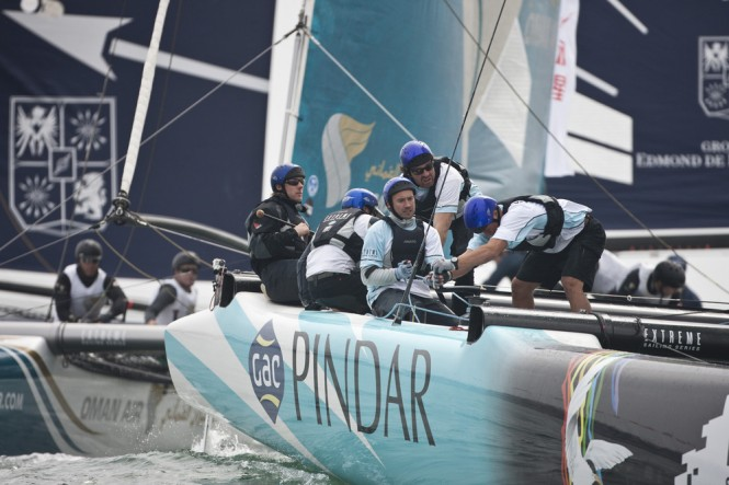Action onboard GAC Pindar on day 3 - Photo lloyds Images