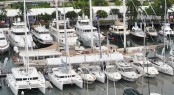 Aerial shot of the Singapore Yacht Show 2012