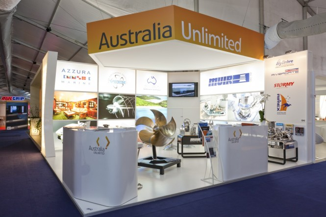 Australian Pavilion at Monaco Yacht Show 2011 using Australia Unlimited