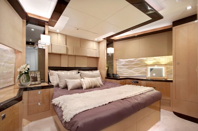 Beautiful interior aboard the superyacht Virginia