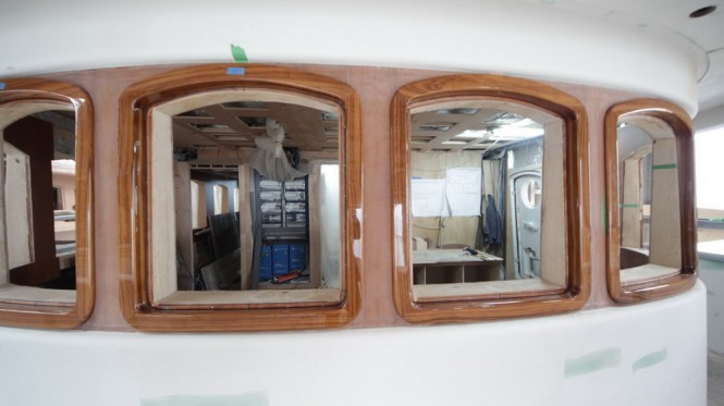 Bilgin 160 Classic Superyacht under construction at Bilgin Yachts