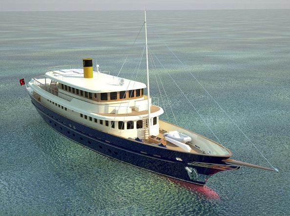 Bilgin 160 Sister superyacht - front view