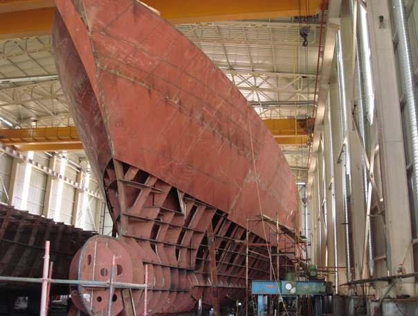 Bilgin 160 Sister yacht under construction