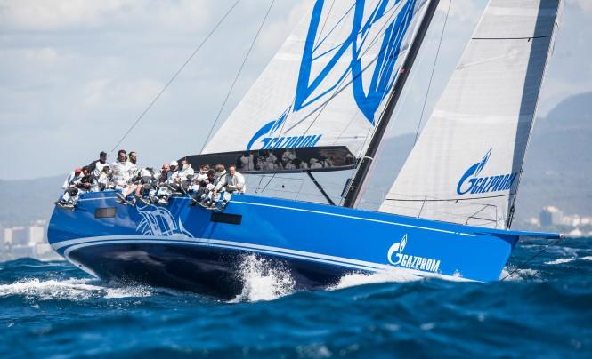 Bronenosec yacht competing in the Mapfre Palma Vela Regatta