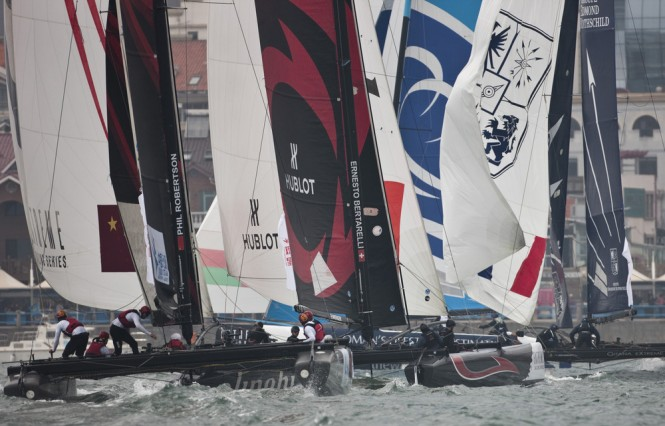 Close racing on day 3 in Qingdao - Photo credit Lloyds Images.