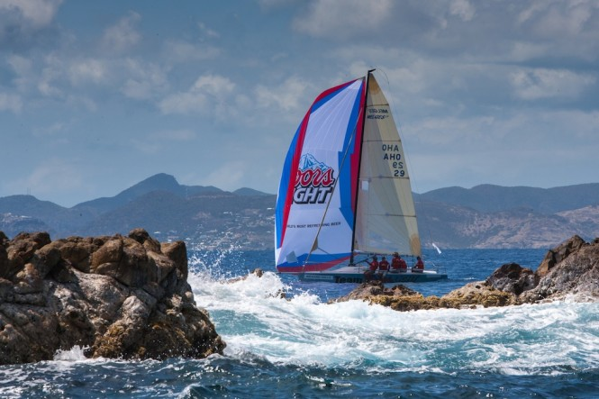 Coors Light went on to win overall in the Spinnaker 1 Class at Les Voiles de St. Barth