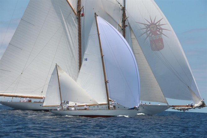 DORADE yacht in the 2012 Antigua Classic Yacht Regatta - Photo credit Tim Wright - photoaction
