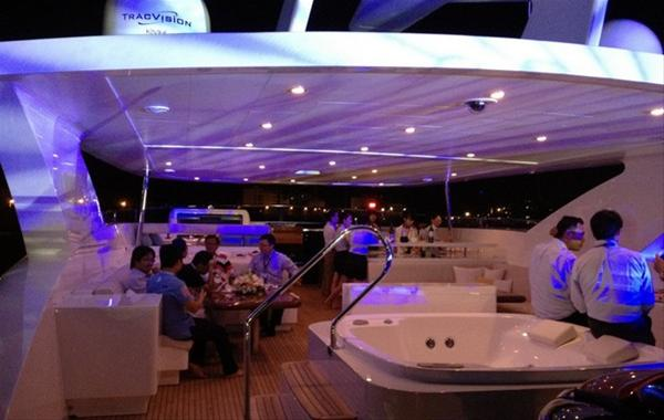 Diva Night aboard the Muses superyacht