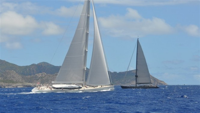 Dubois designed sailing yachts at the 2012 St. Barth's Bucket Regatta