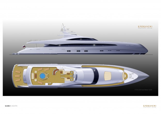 Erdewicki - superyacht ICON 175 Metalic Blue Gradient