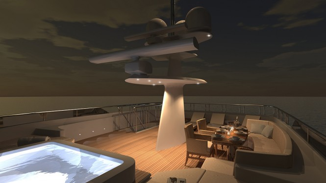Evan K. Marshall designed luxury yacht Ocean Alexander 120
