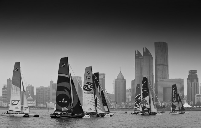 Fleet racing in Qingdao day 3 - Photo Lloyds Images