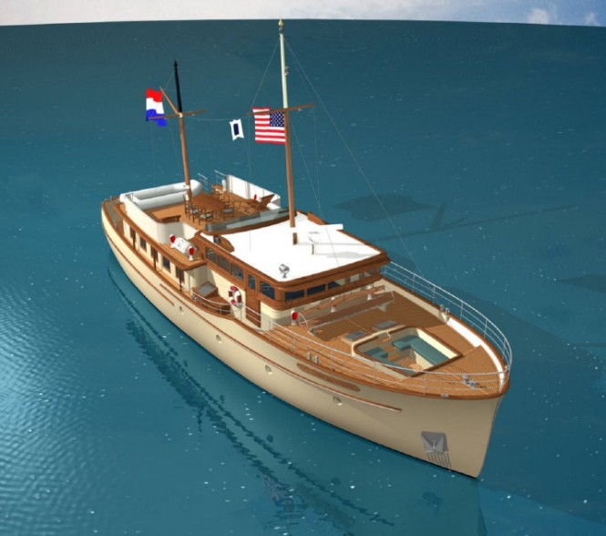 Grande Estime Classic superyacht - view from above