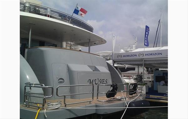 Horizon RP120 luxury yacht MUSES at the Hainan Rendezvous