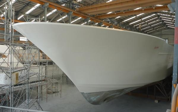 Horizon superyacht Andrea VI under construction