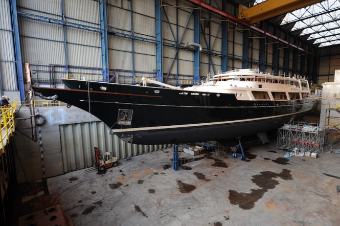 Refit of the superyacht EOS - Icon Yachts Harlingen - Photo Dik Manshande