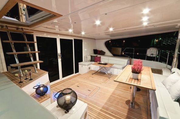 Interior of the Sunreef 58 catamaran