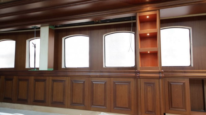 Interior of the new Bilgin 160 Classic yacht by Bilgin Yachts