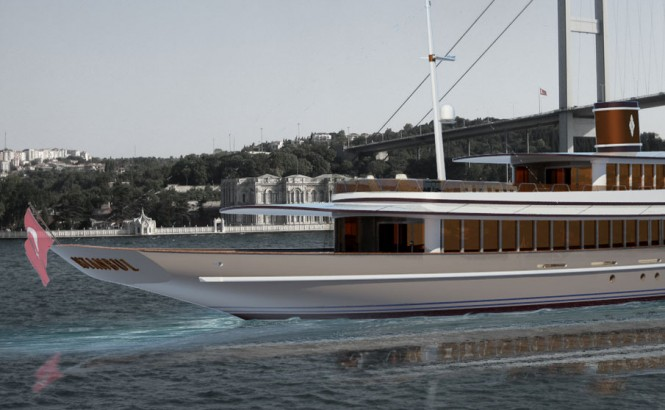 65m Baris Yurek design VIP Tour Boat, which could be arranged to become a luxury motor yacht
